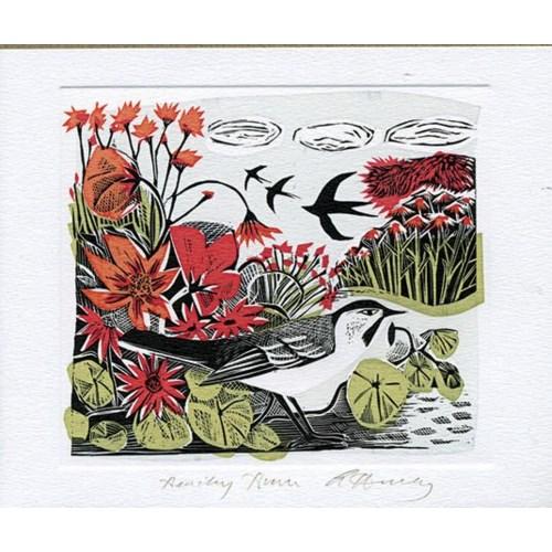 Bird Lithograph 5.5x6.75 Art Angels