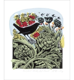 Blackbird Stealing Red Currants|Art Angels