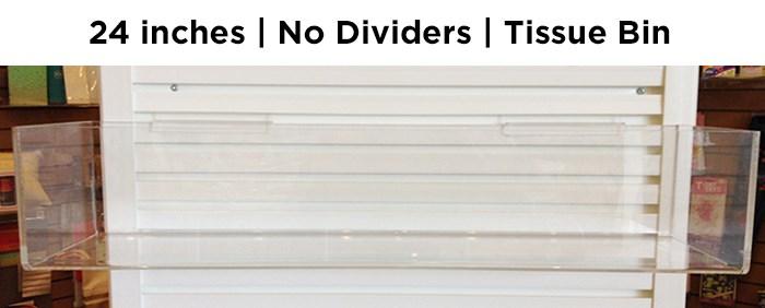 "24"" tissue bin, no dividers|Acclaim Design"