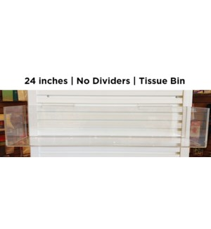"24"" tissue bin, no dividers