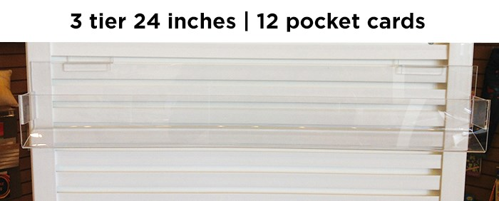 """J channel 3 tier 24"""" inches