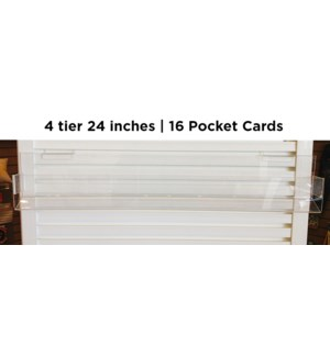 fix- 2ft 4 tier 16 pocket card acrylic|Acclaim Design
