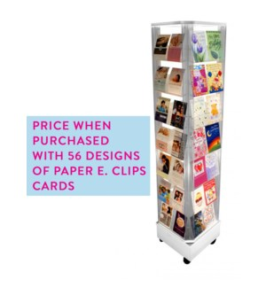 SPINNER-WITH FULL CARD ORDER 56 Pocket White|Acclaim Design
