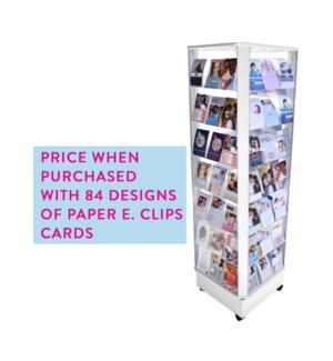 SPINNER-WITH FULL CARD ORDER 84 Pocket White|Acclaim Design