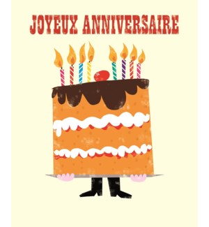 French Birthday Cake 5.5x7|Z