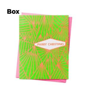 Merry Christmas Geometric-Boxed set of 6
