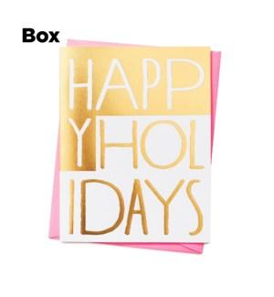 Happy Holidays Blocks-Boxed setof 6