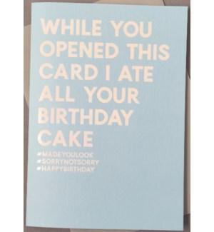 Funny Birthday carbs 4.5x6|Always Sparkle