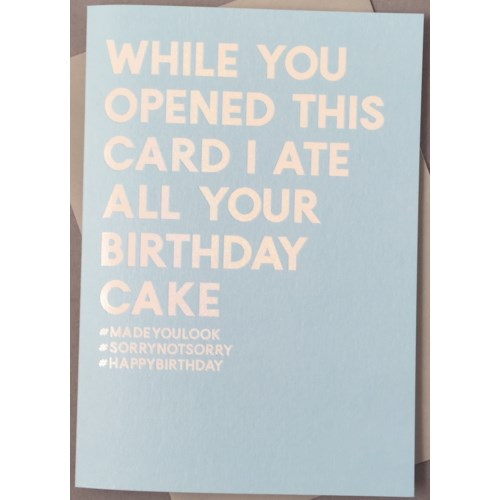 Funny Birthday Carbs|Always Sparkle