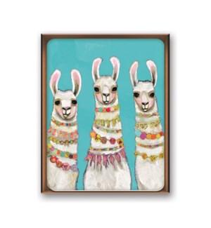 Artisan Note Card Set - Boho Llamas