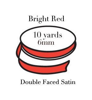 RIBBON-Bright Red Quarter Inch|Pohli