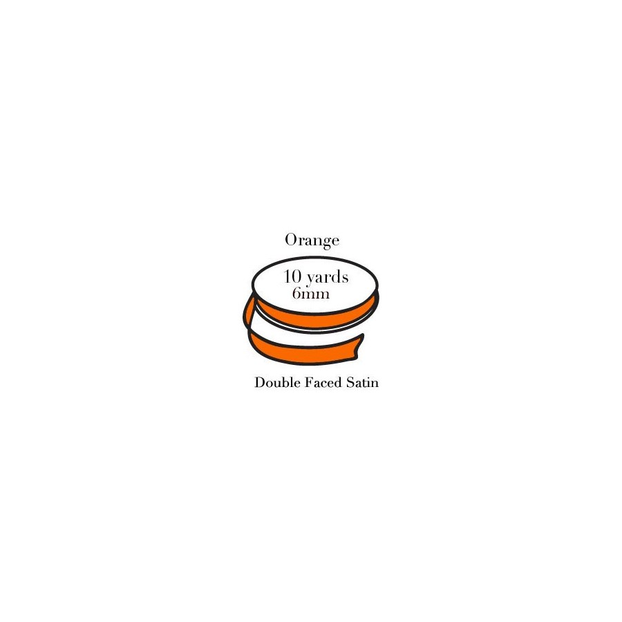 RIBBON-Orange Quarter Inch|Pohli