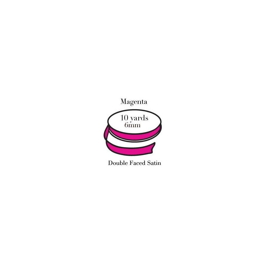 RIBBON-Magenta Quarter Inch|Pohli