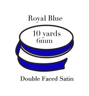 RIBBON-Royal Blue Quarter Inch|Pohli