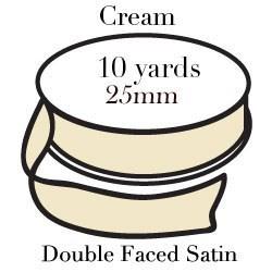 Cream Satin One Inch|Pohli