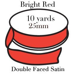 Bright Red Satin One Inch|Pohli