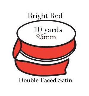 RIBBON-Bright Red One Inch|Pohli