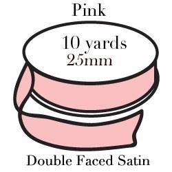 Light Pink Satin One Inch|Pohli