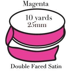 Magenta Satin One Inch|Pohli