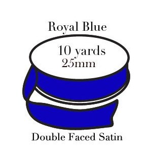RIBBON-Royal Blue One Inch|Pohli