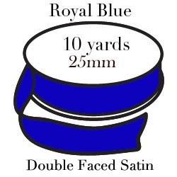 Royal Blue Satin One Inch|Pohli