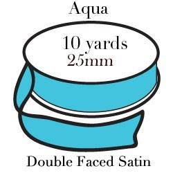 Aqua Satin One Inch|Pohli