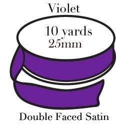 Violet Satin One Inch|Pohli