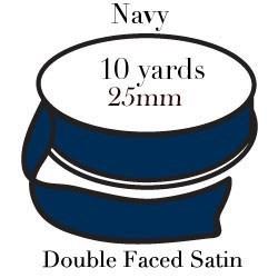 Navy Satin One Inch|Pohli