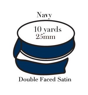 RIBBON-Navy One Inch|Pohli