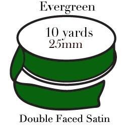 Evergreen Satin One Inch|Pohli