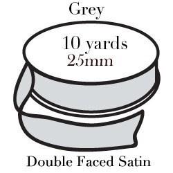 Grey Satin One Inch|Pohli