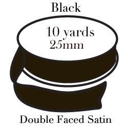 Black Satin One Inch|Pohli