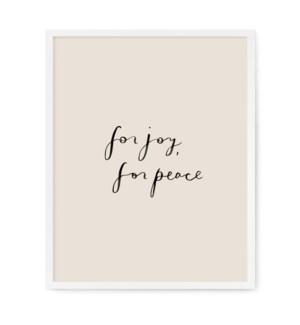 "For Joy, For Peace Art Print - 11"" x 14"""
