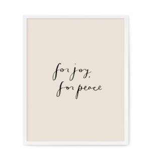 "For Joy, For Peace Art Print - 8"" x 10"""