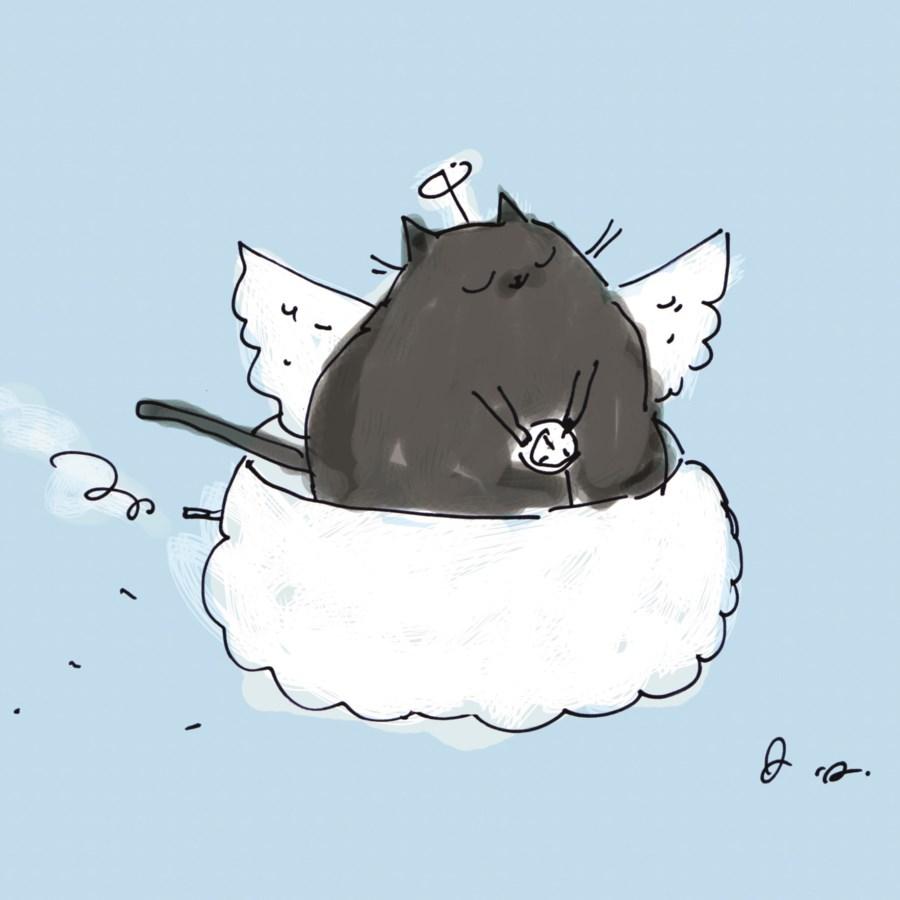 Angel Cat 5x7|Art Press