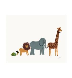 Animal Parade Print (11x14)