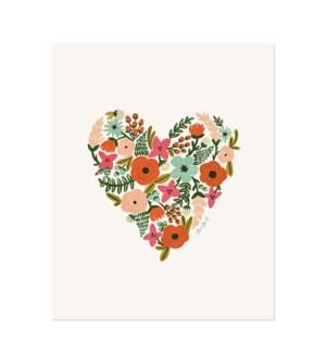 Floral Heart Print (16x20)