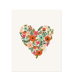 Floral Heart Print (8x10)