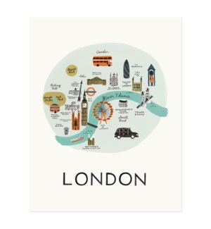 London Map Print (11x14)