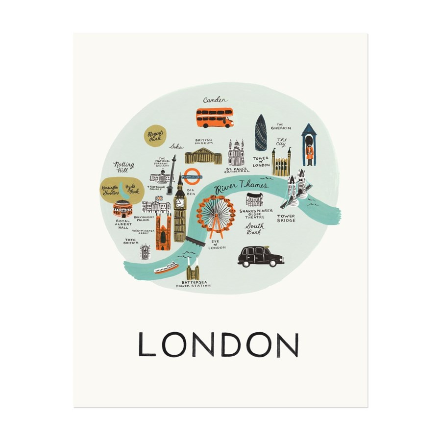 London Map Print (8x10)