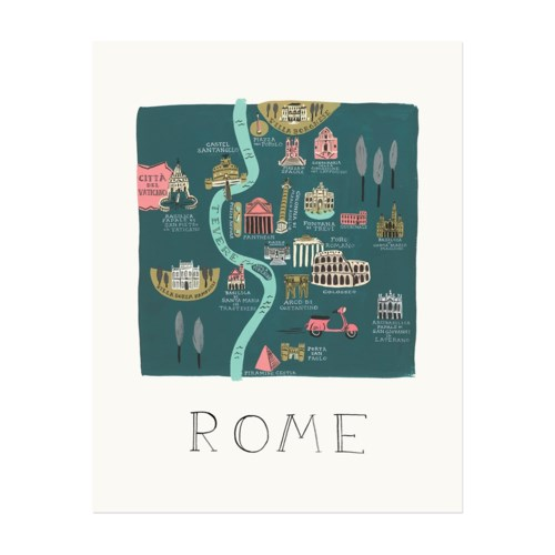 Rome Map Print (11x14)