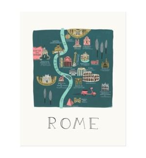 Rome Map Print (8x10)