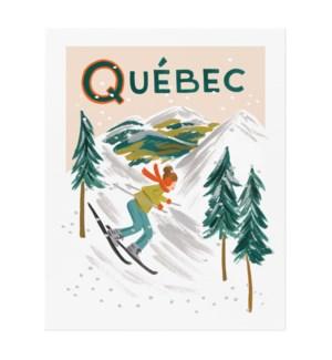 Quebec Bon Voyage Art Print (8x10)