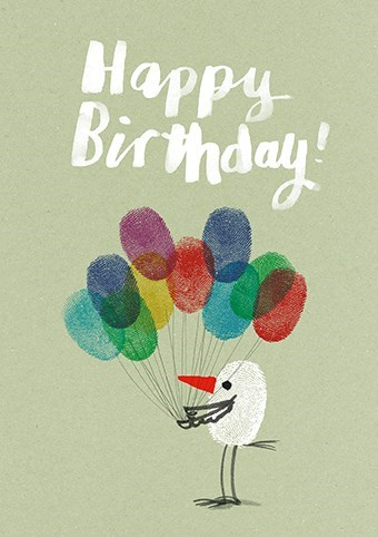 Bird with balloons|Art Press