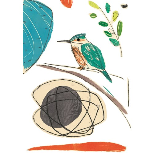 Kingfisher chorus 5x7|Art Press