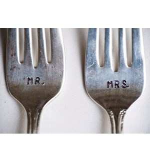 Mr & Mrs Forks 5x7|Art Press