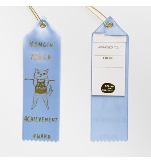 Award Ribbon Note - Hangin' Tough Kitty