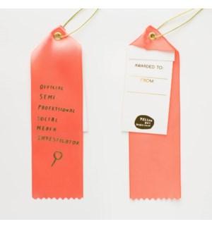 Award Ribbon Note - Official Social Media Investigator