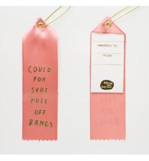 Award Ribbon Note - Could Pull Off Bangs