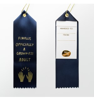 Award Ribbon Note - Official Grown Ass Adult